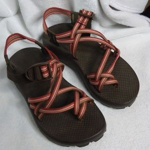Chacos Brown & Orange Stripe Sandals